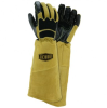 West Chester Tan/Black Large Grain Cowhide Leather Welding Glove - Keystone Thumb - 662909-870940 -- 662909-870940