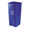 Untouchable Recycling Container, Square, Plastic, 23 gal, Bl -- 356973