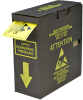 """Attention Observe Precautions"" RS-471 Reaching Hand Label -- #06735 -- View Larger Image"