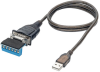 USB to RS485/RS422 FTDI Serial Adapter Cable with COM Retention (USB-A to DB9 M/M), 30 in. -- U209-30N-IND - Image