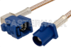 Blue FAKRA Plug to FAKRA Jack Right Angle Cable 12 Inch Length Using RG316 Coax -- PE38757C-12 -Image
