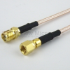 SMA Female (Jack) to SMC Plug (Male) Cable RG316 Coax Up To 3 GHz in 24 Inch -- FMC1318315-24 -Image