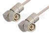 75 Ohm 1.6/5.6 Plug Right Angle to 75 Ohm 1.6/5.6 Plug Right Angle Cable 48 Inch Length Using 75 Ohm RG179 Coax, RoHS -- PE36123LF-48 -Image