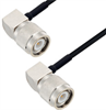 TNC Male Right Angle to TNC Male Right Angle Cable Assembly using LC085TBJ Coax, 4 FT -- LCCA30145-FT4 -Image