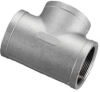 304 Stainless Steel Cast Pipe Fitting, Tee, Class 150, N… - Image