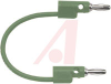 Patch Cord, Stack-Up Banana Plug Each End, 12 Inch, Green -- 70198440