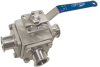 Multiport 3-Way Sanitary Ball Valve -- EA-407-SN -- View Larger Image
