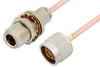 N Male to N Female Bulkhead Cable 36 Inch Length Using RG402 Coax -- PE3830-36 -Image