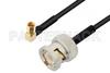 BNC Male to SSMC Plug Right Angle Cable 60 Inch Length Using PE-SR405FLJ Coax -- PE3C4487-60 -Image