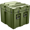 Pelican AL2624-1805 Single Lid Cube Shipping Case with Foam and Casters - Olive Drab -- PEL-AL2624-1805RPFC137 -Image
