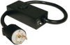 Heavy-Duty Power Extension Cord with 20 AMP Breaker, 20A, 10AWG (NEMA L5-30P to NEMA L5-20R) 2-ft. -- P043-002