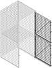 Wire Mesh Double Tier Tenant Storage Lockers