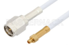 SMA Male to MMCX Plug Cable 12 Inch Length Using RG188 Coax, RoHS -- PE34887LF-12 -Image
