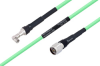 Temperature Conditioned SMA Male Right Angle to N Male Low Loss Cable 60 Inch Length Using PE-P300LL Coax -- PE3M0235-60 -Image