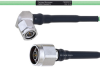 Temperature Conditioned Low Loss RA TNC Male to N Male Cable LL160 Coax in 100 cm -- FMHR0216-100CM -Image