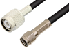Reverse Polarity SMA Male to TNC Male Cable 36 Inch Length Using RG58 Coax, RoHS -- PE35214LF-36 -Image