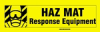 Cabinet Labels (HAZ MAT RESPONSE EQUIPMENT; 3 1/2