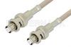SHV Plug to SHV Plug Cable 24 Inch Length Using RG141 Coax -- PE34428-24 -Image