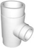 Schedule 40 PVC Pressure Fitting Reducing Tees (SxSxS)