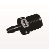 Straight Connector, Barbed, Black -- N8S531 -Image