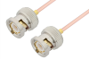 BNC Male to BNC Male Cable 6 Inch Length Using RG405 Coax -- PE3678-6 -Image