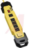 Power Strip,Power It! Safety Power Strip w/6 Outlets, OSHA, Yellow, 9ft Cord -- 70101513