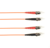 OM4 50-Micron Multimode Fiber Optic Patch Cable - Duplex, PVC, ST-ST, Orange, 6 m -- FOCMRM4-006M-STST-OR