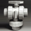 Series TMBV 3-Way Manual Ball Valve -- TMBV100EPT-PV