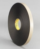 3M 4492 Black Foam Mounting Tape - 3/8 in Width x 72 yd Length - 1/32 in Thick - 23517 -- 051115-23517 -- View Larger Image