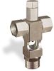 """(Formerly B1629-7-TP-SG), Cross Small Sight Feed Valve, Solid Gasket, 1/4"""" Female NPT Inlet, 1/4"""" Female NPT Outlet, Tamperproof -- B1628-233B2TW -- View Larger Image"""
