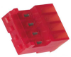 Connector; Closed End; 4; Nylon; CopperAlloy; Tin-Lead; 0.100 in.; Wire; Red -- 70087251