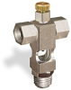 "(Formerly B1629-9X00), Cross Small Sight Feed Valve, 1/4"" Female NPT Inlet, 1/4"" Male NPT Outlet, Handwheel -- B1628-234B1HW -Image"