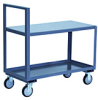 2 Shelf Straight Handle Low Profile Cart -- Model SH