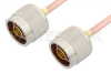 N Male to N Male Cable 24 Inch Length Using RG402 Coax -- PE3827-24 -- View Larger Image