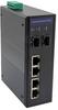 6 Port Industrial Ethernet DIN Rail Switch, 4x Gigabit RJ45 10/100/1000TX PoE 802.3at 30W/port 120W Total Budget, 2x SFP 1000FX