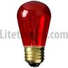 11-Watt Rough Service Incandescent S14 MED Transparent Red -- L-100TR