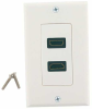 Dual Port HDMI White Wall Plate Kit -- HDMI-2PWK