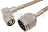 N Male to Reverse Polarity TNC Male Right Angle Cable 48 Inch Length Using RG400 Coax -- PE36283-48 -Image