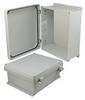 12x10x5 Inch UL® Listed Weatherproof NEMA 4X Enclosure, Non-Metal Mount Plate, Non-Metallic Hinges -- NBN121005-KIT01 -- View Larger Image