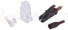 Fiber Connector, UniCam LC Male, 50/125 Multimode -- FOC-9505099 - Image
