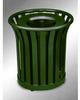 Americana Open Top Outdoor Metal Trash Can -- GPR410-GREEN