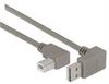 Right Angle USB Cable, Down Angle A Male/ Left Angle B Male, 2.0m -- CA90DA-90LB-2M -Image