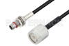 Slide-On BMA Plug Bulkhead to TNC Male Cable 24 Inch Length Using LMR-100 Coax -- PE3C4933-24 -- View Larger Image