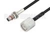 Slide-On BMA Plug Bulkhead to TNC Male Cable 24 Inch Length Using LMR-100 Coax -- PE3C4933-24 -Image