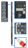 3-Phase Switched PDU, 25.2kW, 30 240V Outlets (24 C13, 6 C19), IEC309 60A Red (3P+N+E) 415V Input, 0U Vertical Mount -- PDU3XVSR6G60B
