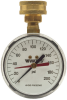 Hose Connection Gauge, 0 to 200psi Scale -- IWTG