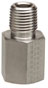 Threaded adapter, stainless steel, 1/4
