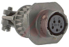 CONNECTOR,CABLE CONNECTING RECEPTACLE W/CABLE CLAMP,CLASS A,5#20 SOCKET CONTACT -- 70010683
