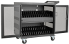 32-Device USB Charging Station Cart with Sync for iPad and Android Tablets, Wall-Mount Option, Black -- CSC32USB
