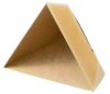 1.4 inch Edge Length, Trihedral Corner Reflector, ¼-20 Threaded Hole Mount, Aluminum Body, Gold Chem Film Finish -- PEWRL0000 -Image